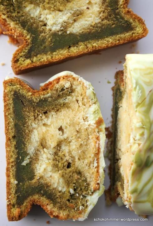 Grüner Marmorkuchen dank Matcha